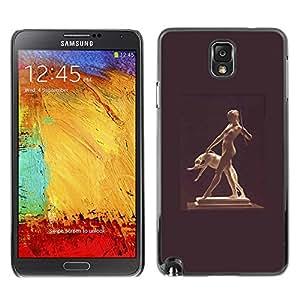 Shell-Star Art & Design plastique dur Coque de protection rigide pour Cas Case pour SAMSUNG Galaxy Note 3 III / N9000 / N9005 ( Statue Woman Naked Nude Dog Ancient God )