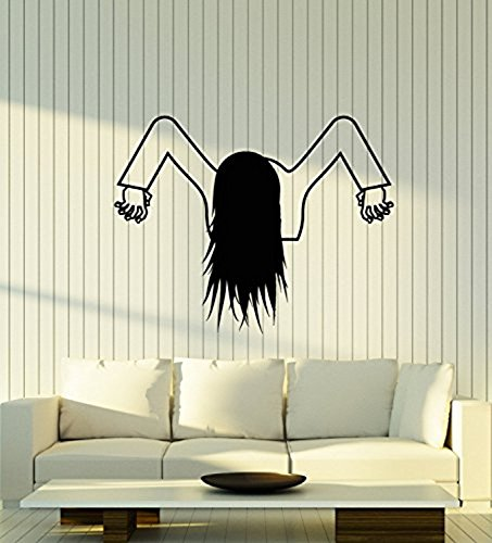 Andre Shop Vinyl Wall Decal Horror Movie Character Funny Halloween Girl for Bathroom Stickers Large Decor26SX68i