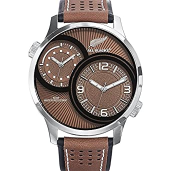 All Blacks – 680268 – Armbanduhr – Quarz Analog – Zifferblatt braun Armband Leder zweifarbig
