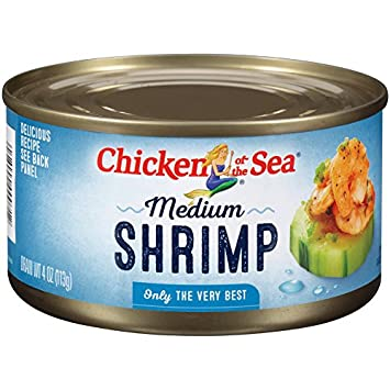 Chicken Of The Sea Shrimp Medium 4 Ounce Amazon Grocery