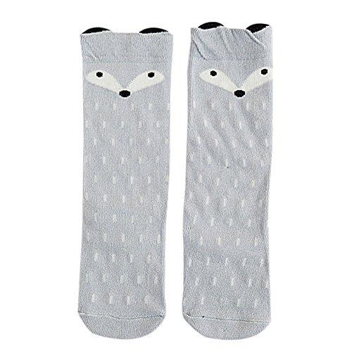 Baby Girls Toddler Cute Fox Soft Cotton Blend Knee High Socks Hosiery