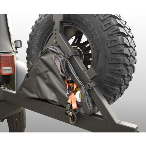 Carrier Tire A-frame (Rugged Ridge 12801.50 Black Tire Carrier Recovery Bag)