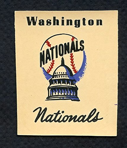 - 1956 Team Logo Decals Washington Senators EX-MT 310514 Kit Young Cards