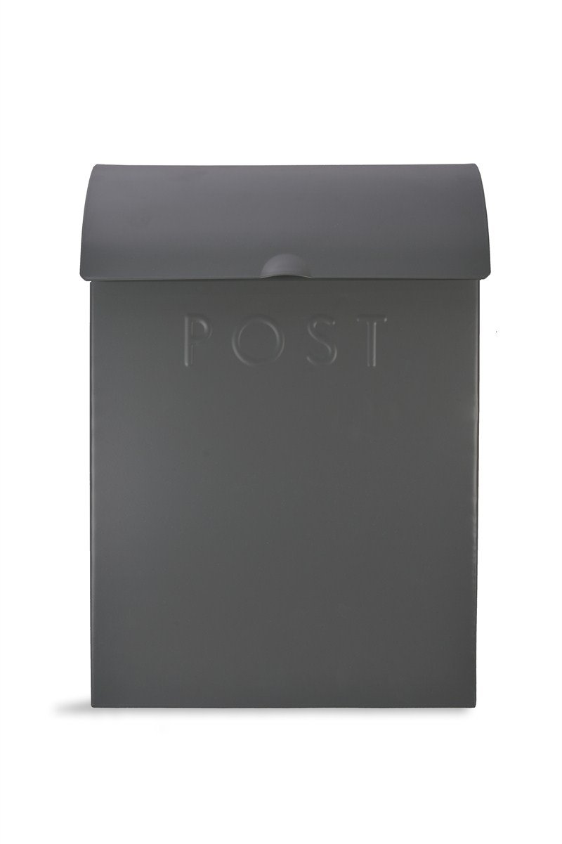 Garden Trading PBCO02 Extra Large Post Box with Lock - Charcoal