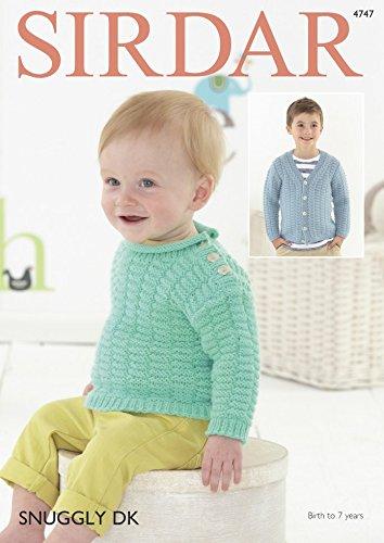 - Sirdar Baby & Boys Cardigan & Sweater Knitting Pattern 4747 DK