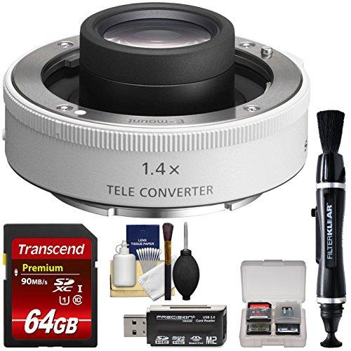 Sony Alpha E-Mount FE 1.4X Teleconverter Lens with 64GB Card + Reader + Lens Pen + Kit