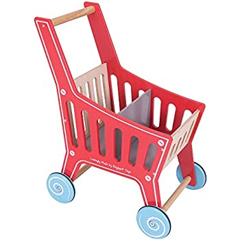 Amazon Com Bigjigs Toys Wooden Shopping Cart Toy