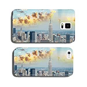 New York. Aerial view of Midtown Manhattan with famous buildings cell phone cover case Samsung S6