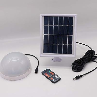 24 LED de energía solar Control remoto Celling Light impermeable interior lámpara??para luz de pared de jardín de camino (negro): Iluminación