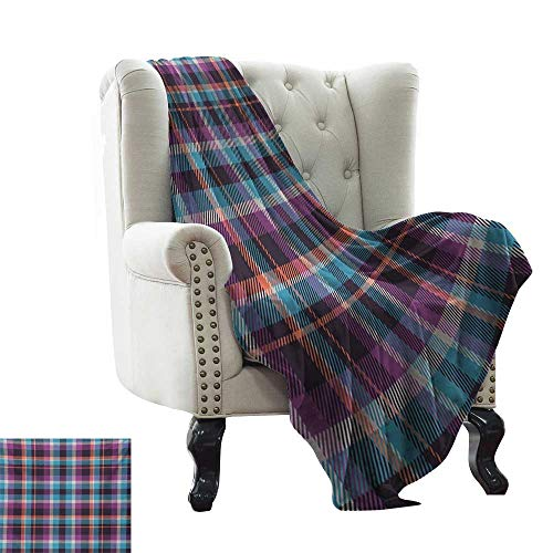RenteriaDecor Checkered,Lightweight Blanket Celtic Tartan Irish Culture Scotland Country Antique Tradition Tile 50