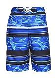 Laguna Boys Wave Runner Swim Trunk Blue Combo 14/16