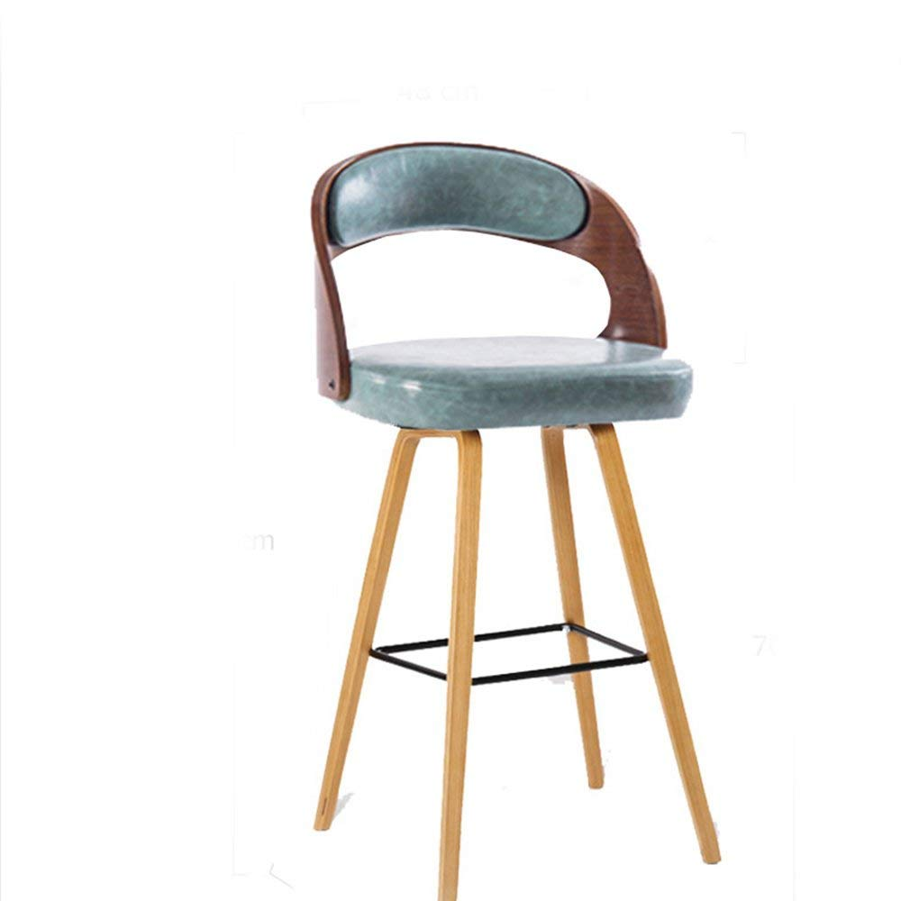 4 JZX Chair- Bar Stool Solid Wood + Pu Simple and Modern Safe Secure Comfortable Durable