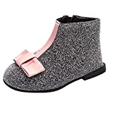Naladoo Kids Baby Girls Princess Patchwork Martin Boots Zip Winter Warm Shoes