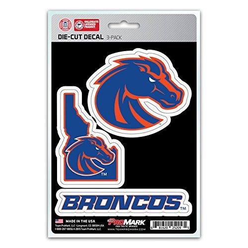 NCAA Boise State Broncos Team Decal, 3-Pack