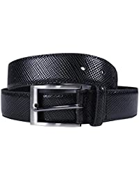 New Mens 35mm Wide Bonded Genuine Leather Snake Skin Textured Buckle Belts S-3XL