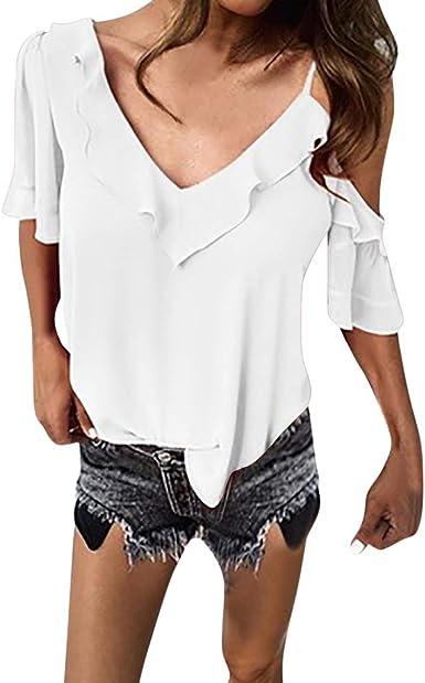 Poachers Camisetas Mujer Manga Corta Originales Tops Mujer Verano Blusas para Mujer Elegantes Tallas Grandes Blusas para Mujer Primavera Crop Tops Mujer Camisas Mujer Flamenca Tops Deportivo: Amazon.es: Ropa y accesorios