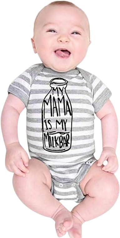 Newborn Infant Baby Boy Striped Clothes Bodysuit Romper Jumpsuit Playsuit Outfit