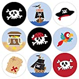 Pirate Birthday Party Favor Labels   216 Stickers
