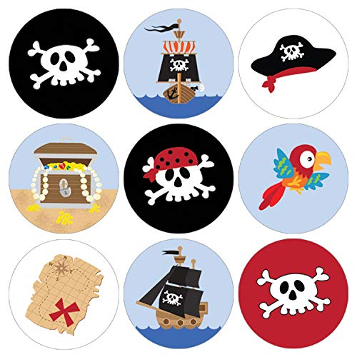 Pirate Birthday Party Favor Labels | 216 Stickers ()