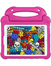 Children'S Portable Tablet Case Cover For IPad 10.2 Inch IPad 7 Drop Protection Case - Rose Red