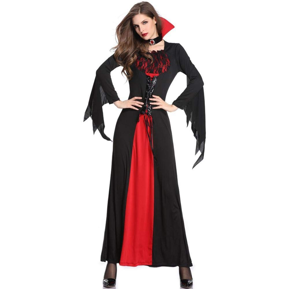 Shisky Cosplay kostüm Damen, Halloween Kostüm Vampir Hexe Kostüm Magic Hexe Kleid Theme Party Kostüm Kostüme