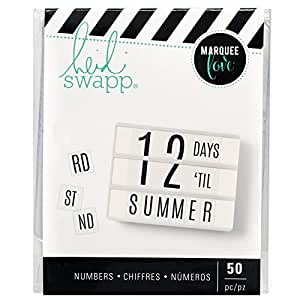 American Crafts 313741 Heidi Swapp Lightbox 50Piece Double Size Numbers