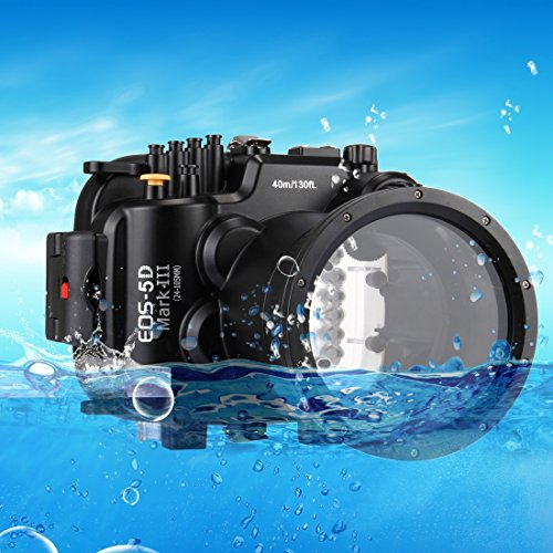 PULUZ 40m Underwater Depth Diving Case Waterproof Camera Housing for Canon EOS-5D Mark III by PULUZ