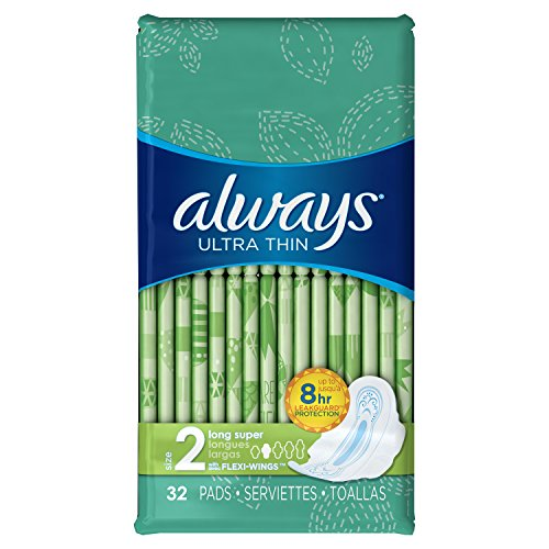 always-ultra-thin-size-2-long-pads-with-wings-super-absorbency-unscented-32-count-pack-of-3packaging