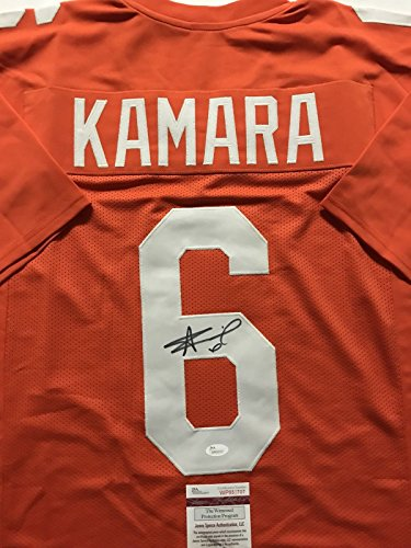 Autographed/Signed Alvin Kamara Tennessee Volunteers Orange College Football Jersey JSA COA