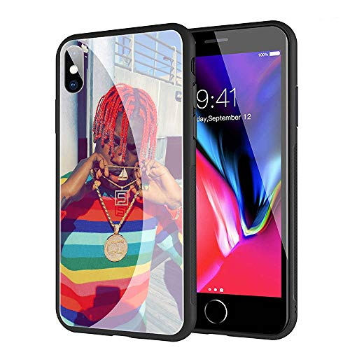 (GUOZHAO Phone Case iPhone Xs Max,GZA-66 Lil Yachty Lil Boat Tempered Glass Back Black Cover and Soft Silicone Rubber Bumper Frame for Scratch-Resistant and Anti-Scratch Absorption)