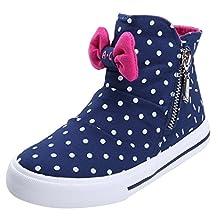 Alexis Leroy Kids' Shoes Girls' High-top Zipper Canvas Shoes
