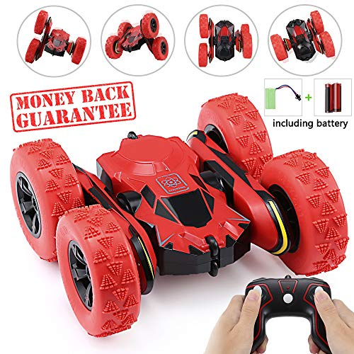 Ansee Rc Cars for Kids Stunt Car Off Road Radio Controlled Cars 2.4GHz 4WD 6CH High Speed Rechargeable 360 Degree Rotating RC Vehicles (Battery Included) -