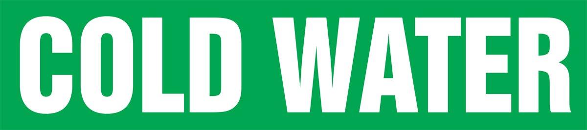 Accuform RPK267SSB Self-StickDISTILLED WATER PIPE Marker for 1-1//2 to 2 OD Pipe White on Green 1-1//2 H x 8 W 1-1//2 H x 8 W