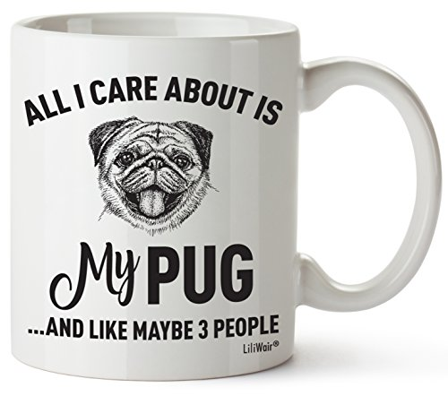 (Pug Mom Gifts Mug For Women Men Dad Decor Lover Decorations Stuff I Love Pugs Coffee Merchandise Accessories Ornament Talking Art Apparel Funny Birthday Gift Home Coffee Cup Mugs)