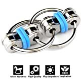 Toys : Flippy Chain Fidget Toy Relieve Stress Reducer for Autism, ADD, ADHD, and Autism Boredom your Finger Tips (Blue)