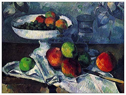 ArtPlaza TW92179 Cezanne Paul - Still Life with Fruit Bowl Decorative Panel 51x39.5 Inch Multicolored