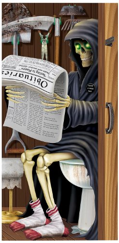 Beistle 00022 Grim Reaper Restroom Door Cover, 30