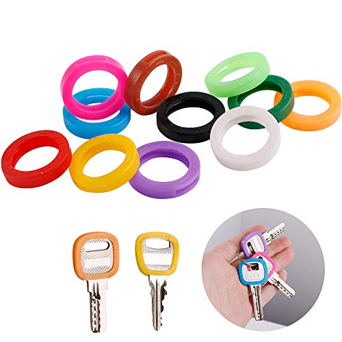 11PCS Key Caps Plastic Key Identifier Covers Tags