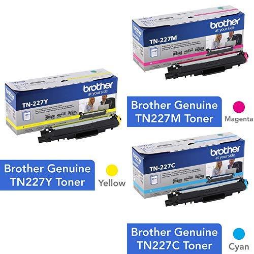 Toner Original BROTHER TN227C TN227M TN227Y (TN-227C TN-227M TN-227Y) Cyan Magenta y Yellow Color Set