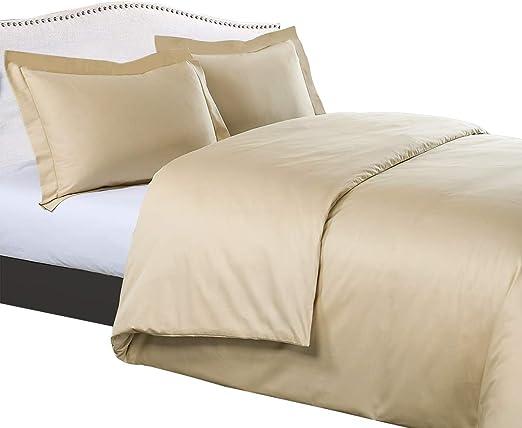 Details about  /New Button Closer Duvet Sets Corner Ties 1000 TC 100/% Cotton Ivory Solid