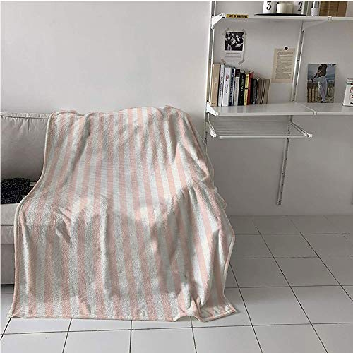 """Striped Fabric The Yard Cozy Flannel Blanket,Vintage Inspirations Geometric Arrangement Grunge Line Pattern Monochrome Ornate,Lightweight All-Season Blanket,Blanket for Sofa Couch Bed 51"""" x 60"""""""