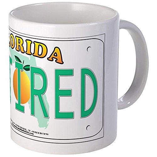 CafePress Florida Retired Vanity Plate Mug Unique Coffee Mug, Coffee Cup