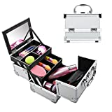Mewalker 4 Tier Trays Cosmetic Train Case 7.8