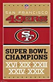 San Francisco 49ers Champions Football Poster