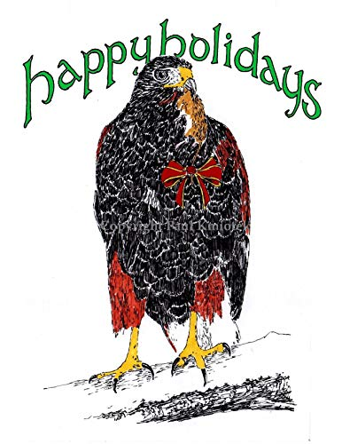 Holiday Hawk Note Card