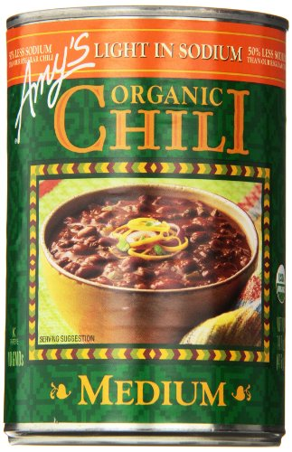 (Amy's Light in Sodium Organic Chili,  Medium, 14.7 Ounce (Pack of)