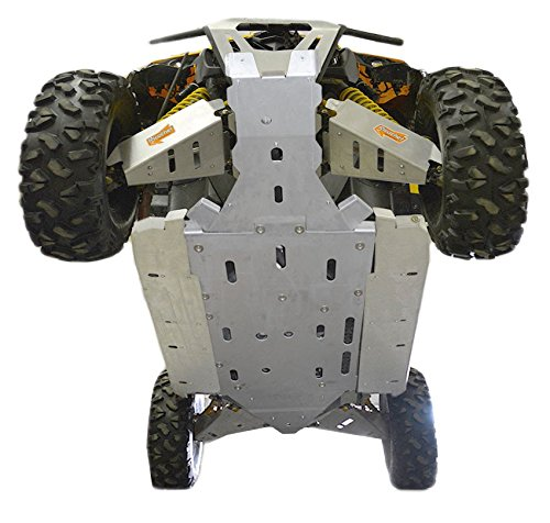 Can-Am Maverick MAX , X-RS, X-RS Turbo, X-DS, X-DS Turbo, 12 Piece Aluminum Full frame skid plate set, front & rear A-Arm/CV Boot Guards, Lateral Rock Sliders AND Footwell Protection by Ricochet