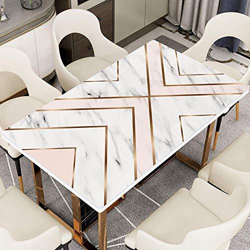 KADONNY Inicio Marmol Mesa de Comedor Mantel Blanco Impermeable Plancha a Prueba de Aceite Mantel desechable Impresion Rectangular PVC Hogar Mesa Mat-F_60 * 120