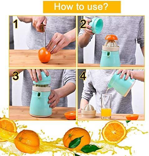 Uva 10.5 * 17.6cm Lim/ón Exprimidor de Frutas Mano Giratoria Exprimidor Manual Port/átil para Jugos de Naranja LYTIVAGEN Exprimidor Manual Sand/ía y Fresa