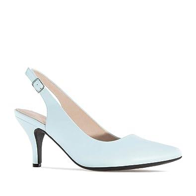 Chaussures à kitten heel à bout pointu bleues femme eQsZTtbhp
